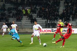 Tavares inscrit le second but dijonnais (Nicolas GOISQUE/www.Focale.info)