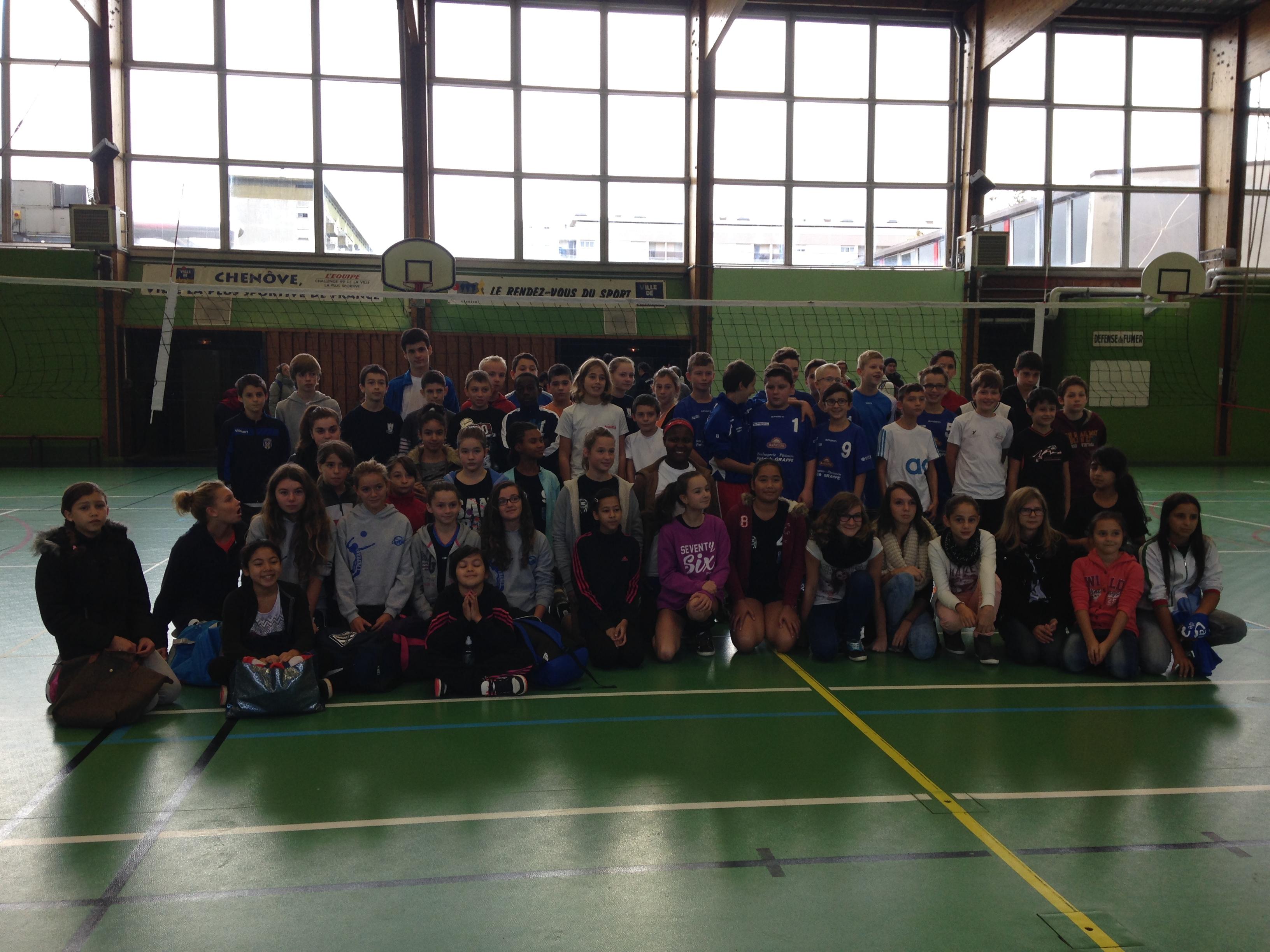 Une belle journ e pour les jeunes volleyeurs sport dijon - Ligue de bourgogne de tennis de table ...