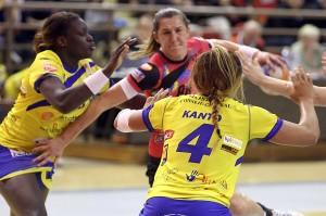 Djana Stevin a inscrit le but libérateur pour Dijon (Nicolas GOISQUE/www.focale.info)