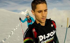 Matthieu à l'Ice Trail Tarentaise Val d'isère(©Matthieu Tharion)