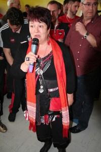 Mme Stolz lors de la montée de Clénay en D1 en mai 2013 (Nicolas GOISQUE/archives)