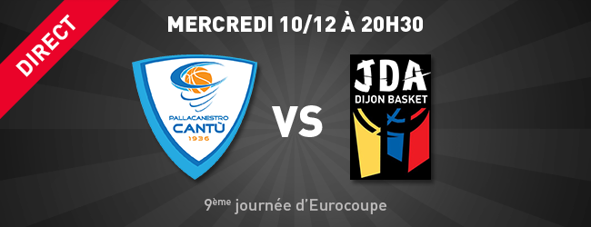 Cantu - JDA en direct sur Dijon Sport News