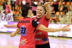 La joie de Moretto et Skolkova au coup de sifflet final (Nicolas GOISQUE/archives)