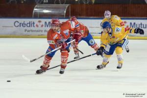 Les lyonnais ont marqué deux fois durant les 3 premières minutes (©Emmanuel Lavocat/Hockey Hebdo)