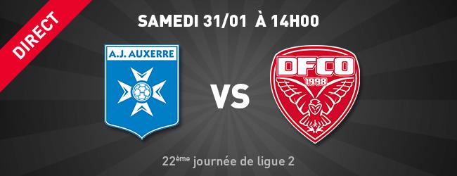 AJ Auxerre - DFCO en direct sur Dijon Sport News
