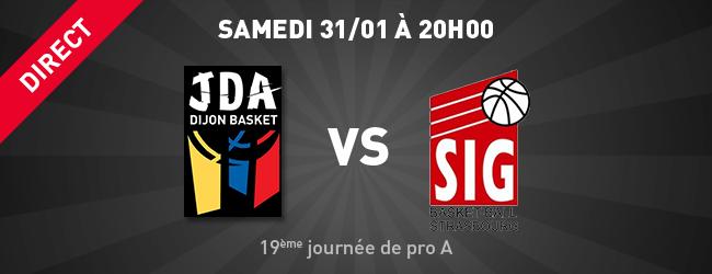JDA - Strasbourg en direct sur Dijon Sport News