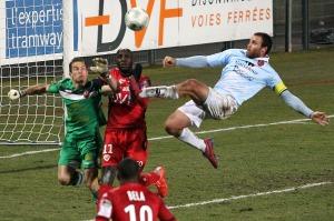 Ajaccio a montré d'avantage d'agressivité positive que son adversaire (Nicolas GOISQUE/www.Focale.info)