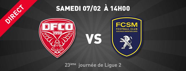 DFCO - FC Sochaux-Montbéliard en direct sur Dijon Sport News