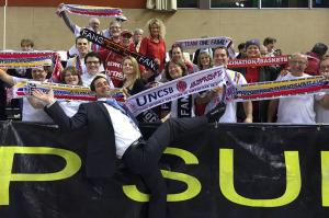 avec les supporteurs de Bamberg (Allemagne ©Kop Sud)