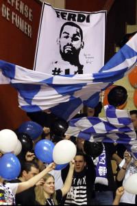 Les supporters Dijonnais sont orphelins de Ferdinand Prénom mais doivent plus que jamais soutenir leurs favoris (Nicolas GOISQUE/archives)