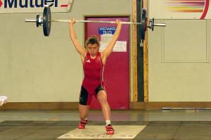 Vicky GRAILLOT 69kgs épaulé-jeté record de France (©HMDB21)