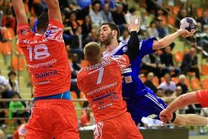 Comme contre Ivry, Martin Petiot a été en difficulté offensive sur son poste d'arrière (©Eric BONTEMPS)