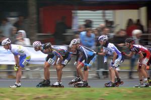 Doucelin Pédicone (ici en 3e position )sur la course à élimination (©AM SPORTS)