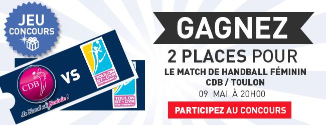 Deux places pour le match CDB - Toulon à gagner avec Dijon Sport News