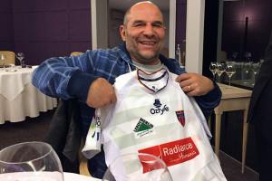 Vincent  Moscato avec le maillot du Stade (©SD)