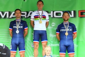Victoire et podium 100% français en U40 © Eric Bontemps
