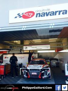 L'Audi R8 au stand à Navarra © PG SLRT