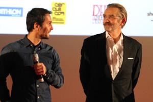 """Bruno Peyronnet réalisateur et Frédéric Thiriez protagoniste de la toison d'or du film avec """"par delà les hauteurs"""" © Nicolas GOISQUE/www.Focale.info"""