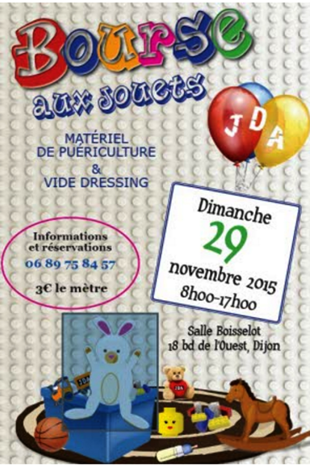 dijon sport news blog archive bourse aux jouets et vide dressing de l association jda. Black Bedroom Furniture Sets. Home Design Ideas