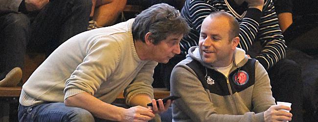 Christophe Maréchal ici avec Anthony Favier responsable du centre de formation du club © Nicolas GOISQUE/www.Focale.info