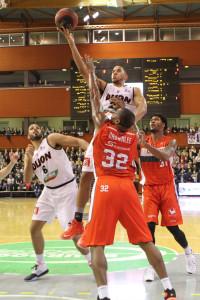 Myles Hesson a scoré 17 points mais n'a pas rempli d'autre case © Nicolas GOISQUE/www.Focale.infostatistique