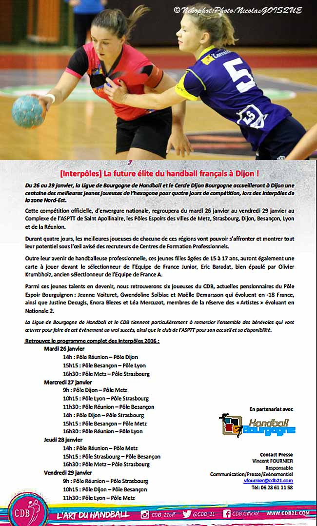 La future lite du handball f minin fran ais dijon - Ligue de bourgogne de tennis de table ...