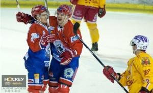 Les Lyonnais victorieux conservent leur 3ème place des play-downs. ©Laurent Lardière/Hockey Hebdo