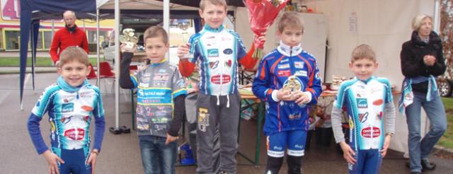 Le podium poussins  © ASPTT Dijon Cyclisme