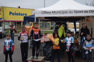 le podium pupilles © ASPTT Dijon Cyclisme