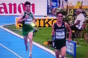 Fabien Palcau a terminé épuisé  (copie d écran Eurosport 2)