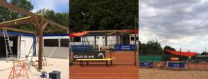 Les installations tennis du lac Kir actuellement en travaux seront prêtes pour accueillir la compétiton © Nicolas GOISQUE/archives