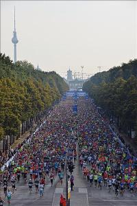 Berli et ces plus de 40 000 marathoniens !! © BM