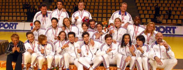 Championnat d'Europe déc 2002 en Suède médaille de bronze © S Pillaud