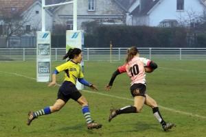 Aline Bonnet file inscrire le 3ème essais dijonnais © Nicolas GOISQUE/NikoPhot