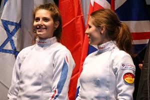 Camille Nabeth et la Polonaise Anna Mroszczak opposées en demi finale © ASPTT Dijon