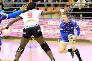 Sonja Frey s'est battue mais a souffert face à la puissance athlétique adverse © Nicolas GOISQUE/NikoPhot