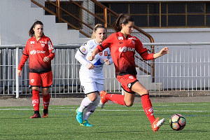 Premier match avec le DFCO pour Manon Uffren et première passe décisive (Crédit photo : Nicolas GOISQUE)