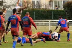 L'essai de Grasse en toute fin de première période, symbôle du match raté par Dijon © Nicolas GOISQUE/NikoPhot